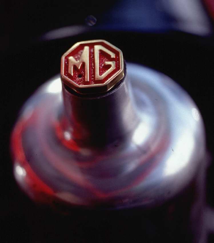 MG Crested Carburetor Caps