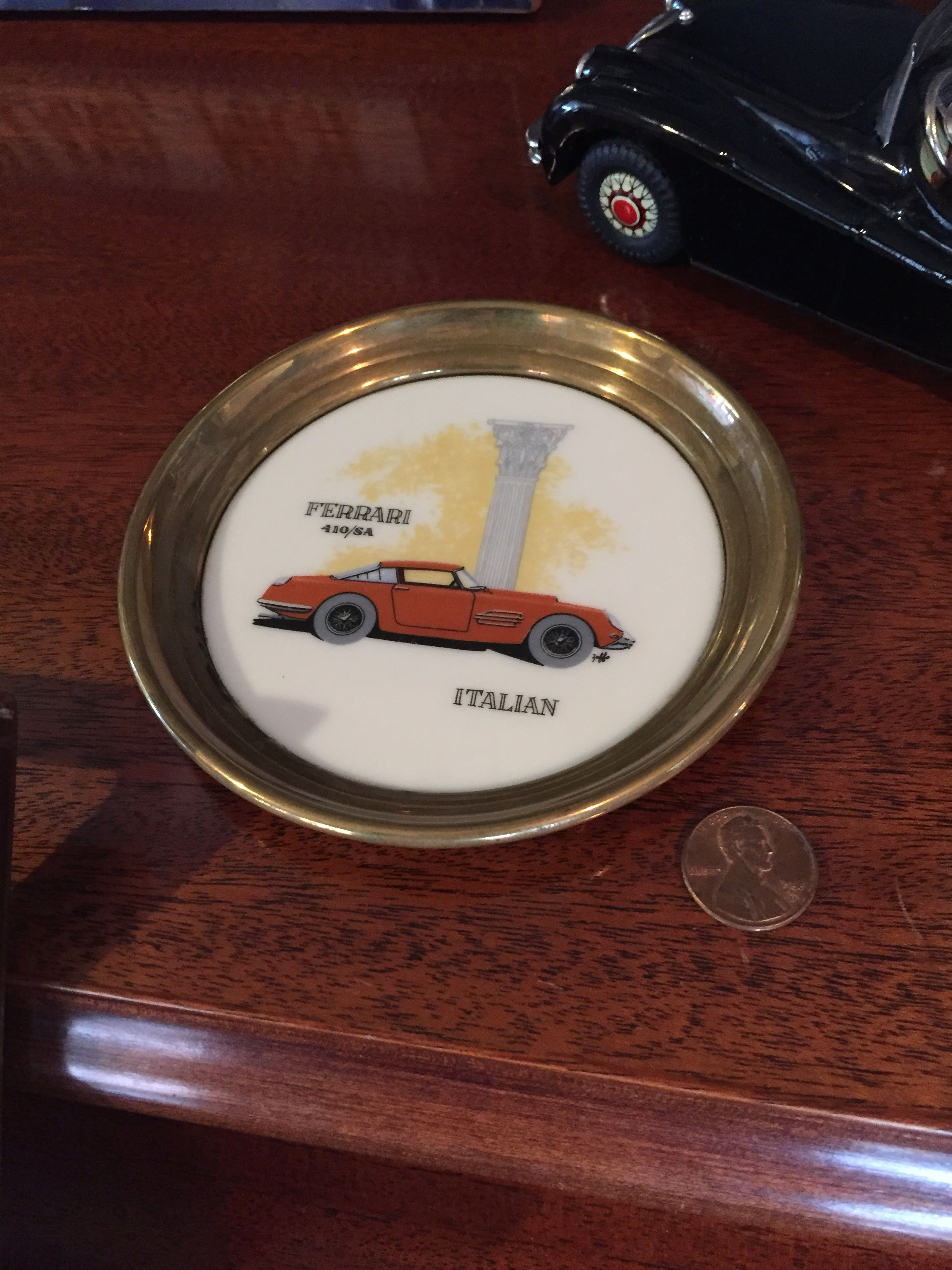 Ferrari 410 Super America Vintage Wine Bottle Coaster