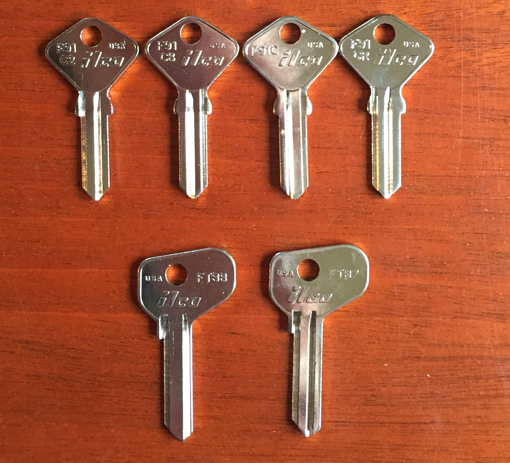 Key Blanks for Door, & Gas Lid